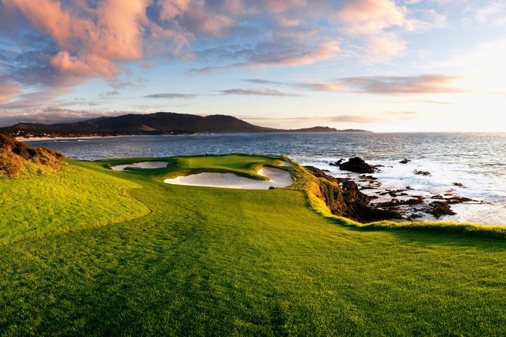 Pebble Beach in America - enjoy wine in california